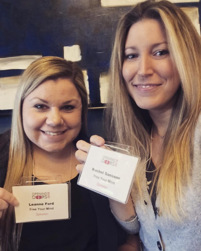 Leanne Ford and Rachel Sansone, Speakers at the Opening Doors Regional HIV/AIDS Connection conference in March 2018, Introduction to Mindfulness.